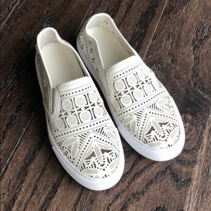 Tory Burch white Slip-on Sneakers